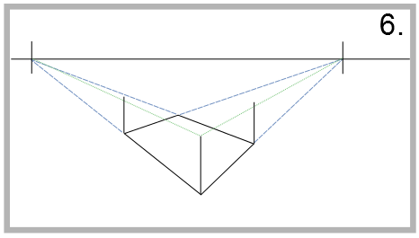 drawing two-point perspective