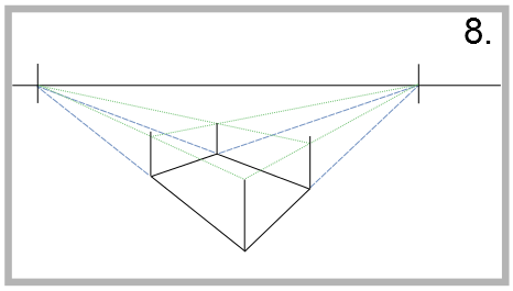 How to draw in two-point perspective