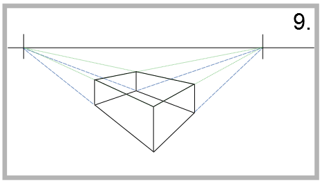 draw two-point perspective