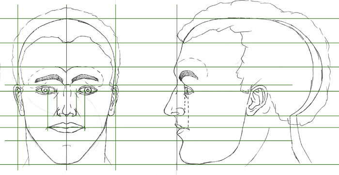 Learn to draw a portrait face in the front view how to draw a portrait ccuart