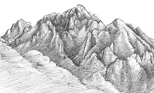 Learn To Draw Mountains And Mountain Landscapes