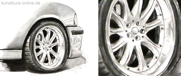 draw light metal rims